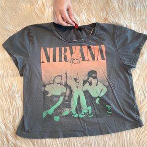 Nirvana graphic crop top